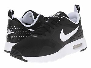 Nike Air Max Tavas GS Black White Kids Girls Youth Running Shoes ... 2fb19c116