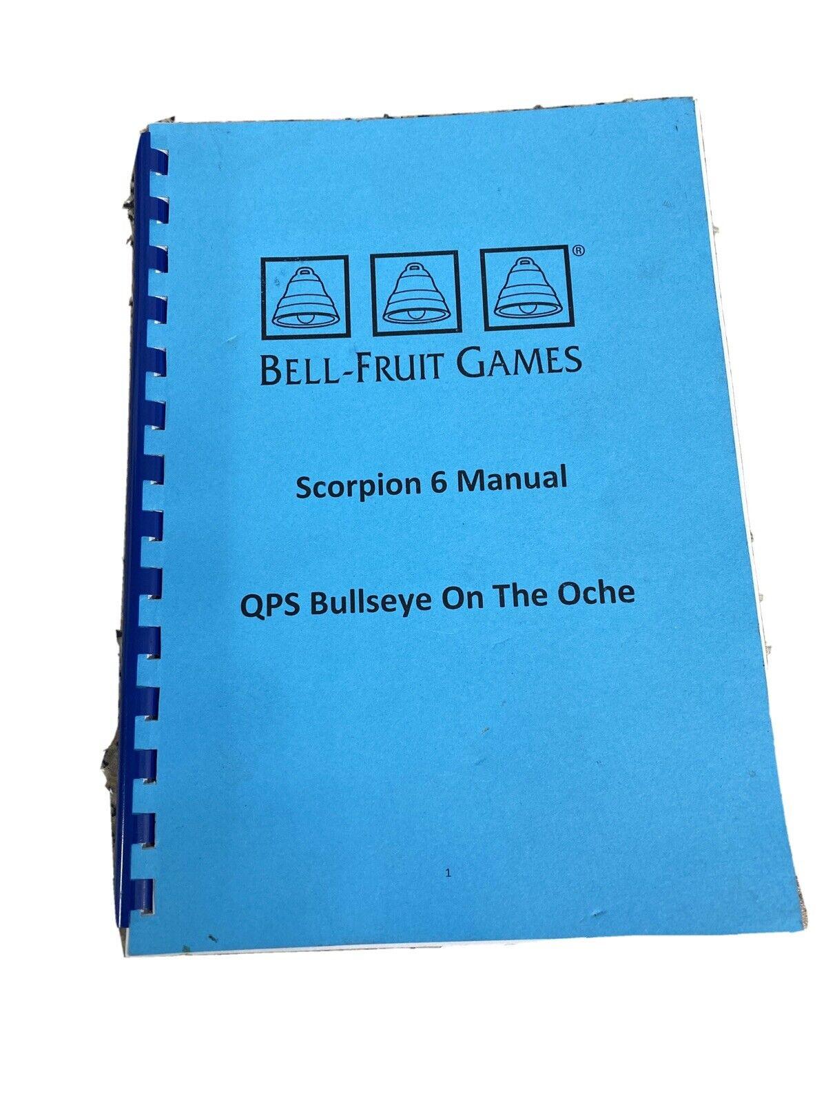 BELL FRUIT GAMES - QPS Bullseye On The Oche Scorpion 6 Manual
