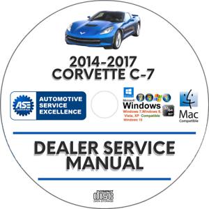 2014-2017 Chevrolet Corvette C7 Service Workshop Repair Manual e book