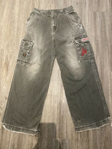 JNCO Jeans Cargo Olive Vintage Distresed Jeans Pan