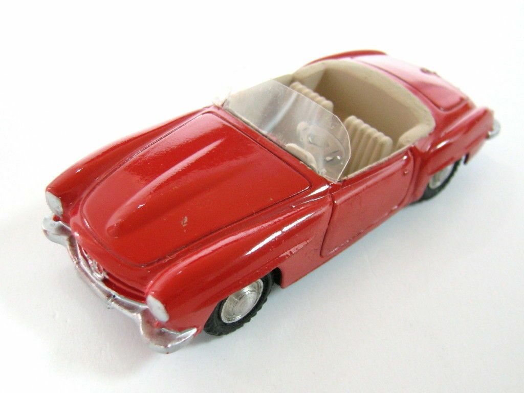 RARE VINTAGE MARKLIN MERCEDES BENZ 190SL DIE-CAST TOY CAR RED GERMANY