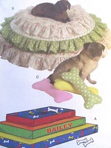 Butterick-Sewing-Pattern-B5112-One-Size-Pet-Beds-2-Styles-Uncut-2007