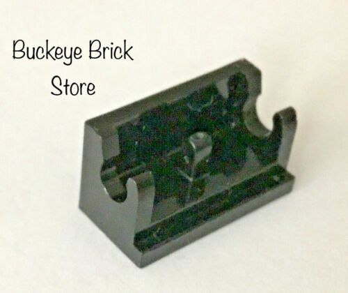 Lot of 8 Lego BLACK HINGE BRICK 1x2 BASE