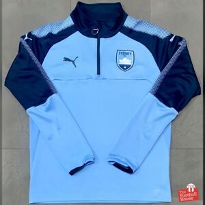 Puma Sydney FC 2017/18 Player Issue 1/2 Zip Training Top. Size M, Exc Cond.