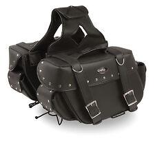 """Motorcycle Waterproof Saddle Bags Rivets Harley Bike List Below - 13 x 10 x 5"""""""
