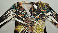 Women's Simply Irresistible Top Size Medium 3/4 Sleeve Polyester/spandex Neutral