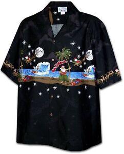 Christmas Hawaiian Shirt.Details About Santa Hula Mele Kalikimaka Christmas Hawaiian Shirt Black