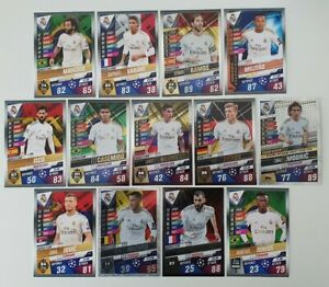 2020-Real-Madrid-Team-Set-Match-Attax-101-Soccer-Cards-13-cards-incl-7-Shiny