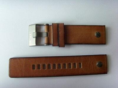 Gehorsam Diesel Original Ersatzband Lederarmband Dz7269 Uhrband Braun 24 Mm Watch Strap
