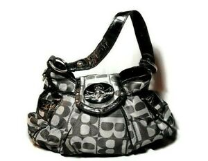 Details About Betty Boop Bag Satchel Gray Black Embellished Silvertone Rhinestones Wings