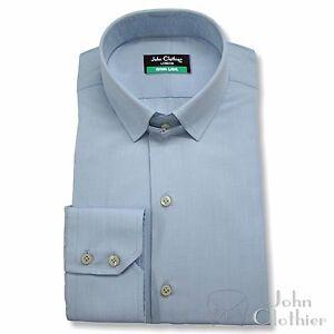 Hombre-Tab-Cuello-Camisas-Puno-Doble-Jermyn-Calle-Ropa-De-Trabajo-Oficina-Formal
