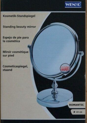Wenko  Kosmetik Standspiegel ROMANTIC 15cm Badezimmer Schminken Spiegel 300/%