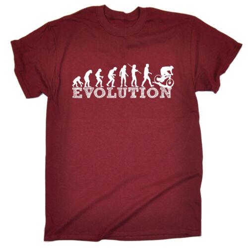 Evoluzione DOWNHILL BIKE RIDING T-shirt Tee Mountain Bike Compleanno Regalo Moda