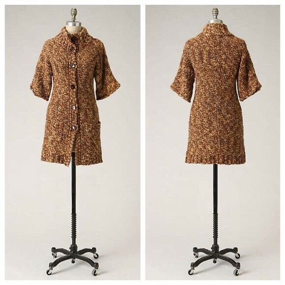 NWT Tabitha Anthropologie Sweater Coat Coat Coat Womens Size Large Wool Blend Stroll 24cd61
