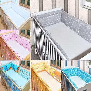 bettumrandung nestchen kopfschutz 30cm x 360cm rundum f r babybett 120x60 neu ebay. Black Bedroom Furniture Sets. Home Design Ideas