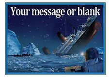 Titanic Ship D2 Boat Sea Birthday Personalised A4 Cake Topper Icing Sheet