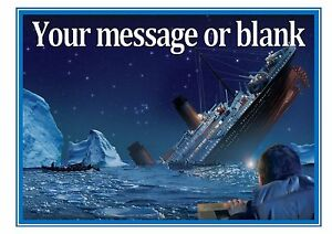 Image Is Loading Titanic Ship D2 Boat Sea Birthday Personalised A4