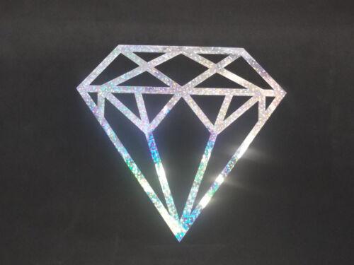 """Diamond Glitter Holographique Vinyl Fenêtre Voiture SUV Decal Autocollant 8/"""""""