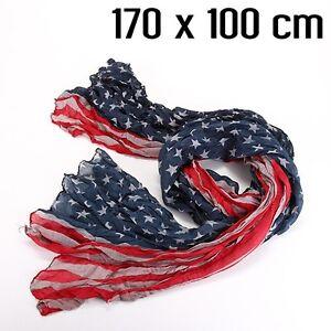 foulard drapeau américain USA rouge bleu gris clair   eBay af1ebbde2fc