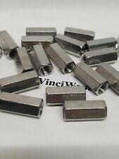 38 16 Rod Coupling Nut Stainless Steel 18 8 1 18 Long 10 Pieces