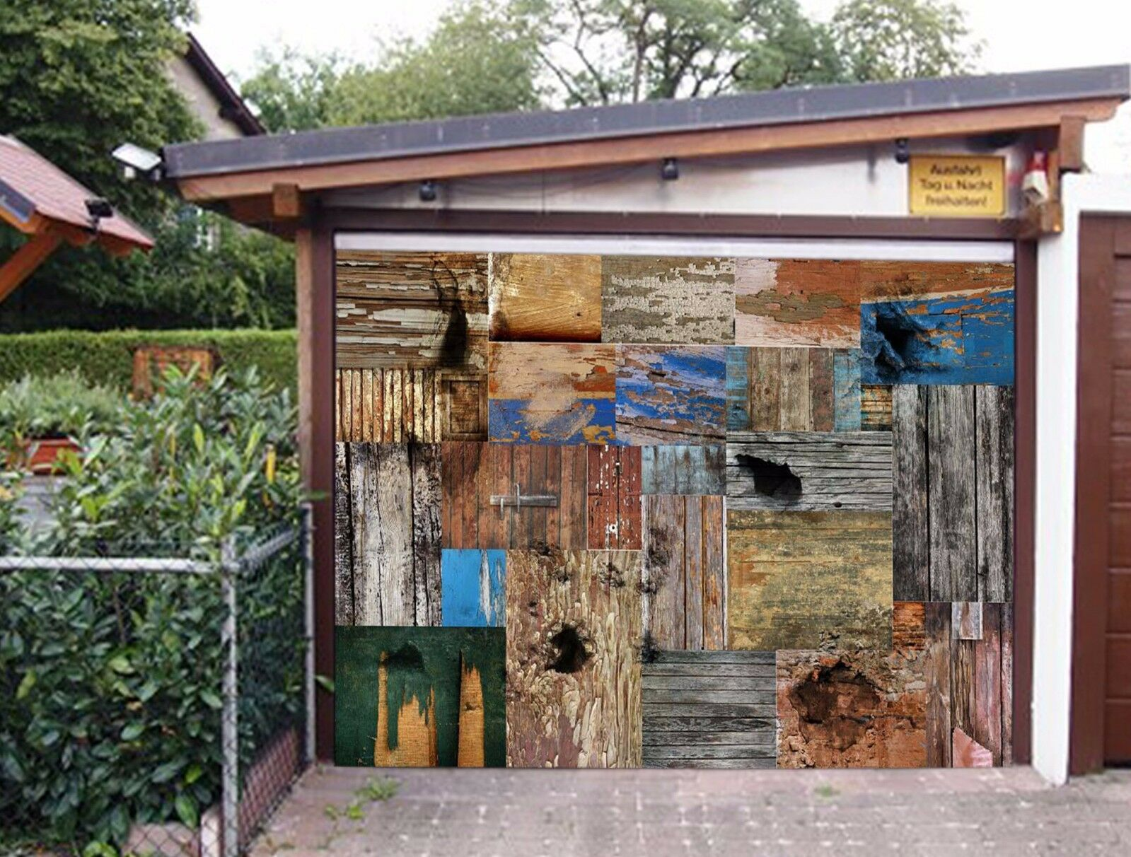 3D Broken Wood 73 Garage Door Murals Wall Print Decal Wall AJ WALLPAPER UK Carly