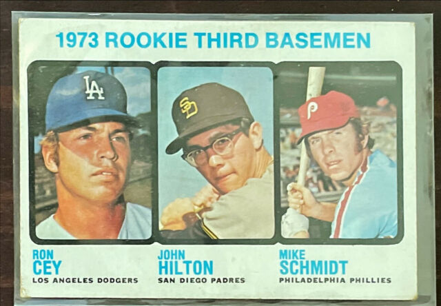 1973 Topps Mike Schmidt #615 Baseball Card Rookie RC Raw