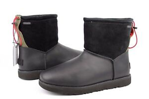 692ba79b2 UGG For Men Classic Toggle Waterproof Leather Boots Black Color Mens ...