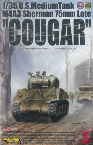 US Medium Tank 1:35 late Asuka 35-046 Cougar M4A3 Sherman 75mm