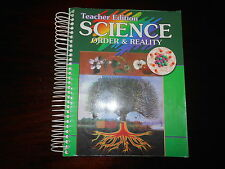ABeka Homeschooling Science ORDER & REALITY teacher edition to textbook