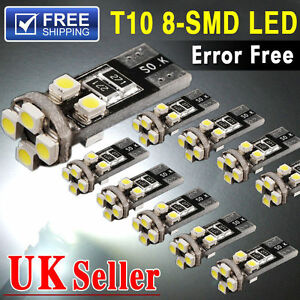 T10-501-w5w-Car-Side-Light-Bulbs-Error-Free-CANBUS-8-SMD-DEL-Xenon-HID-White
