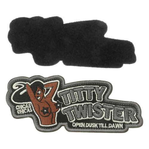TITTY TWISTER Stickerei Patch Aufnäher Armband Applikation mit Klettverschluss