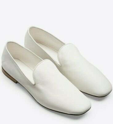 Flats Dashing New Vince Sz9us Bray Leather Slip-on Flat Loafer White Up-To-Date Styling Women's Shoes