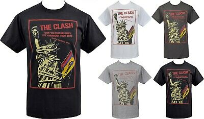 MENS FITTED VEST TANK CLASH USA GIVE EM ENOUGH ROPE TOUR PUNK 1977 AMERICA S-5XL