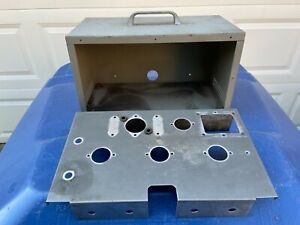 Vintage-1950s-Steel-Tube-Amplifier-CASE-13-034-x7-034-x7-Guitar-Amp-Project-w-chassis
