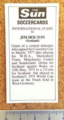 Sun soccercards 1978 1979 tarjetas de un solo jugador de fútbol-varios 061-120