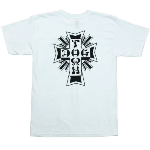 Dogtown X Suicidal Tendencies DTST1 CROSS LOGO Skateboard Shirt WHITE XXL