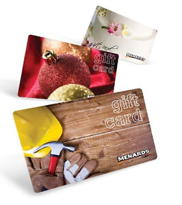 Details about MENARDS Gift Cards Assorted & New Designs - No Value /  Collector's Item