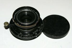 RARE Goerz Berlin C.P.Doppel-Anastigmat 120 mm 4.6 LENS COVERS up to 9x12 cm