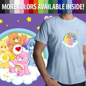 Care-Bears-Grumpy-Cheer-Tenderheart-Funshine-Bear-Unisex-Mens-Tee-Crew-T-Shirt