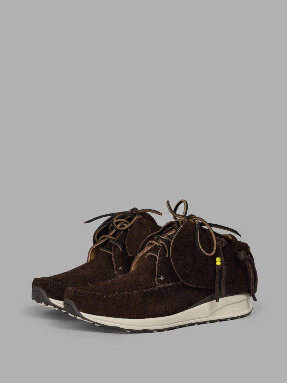 Visvim FBT Dark Brown Lhamo-Folk Suede Moccasin Moccasin Moccasin  Kanye Size 9 504811908 0267f4
