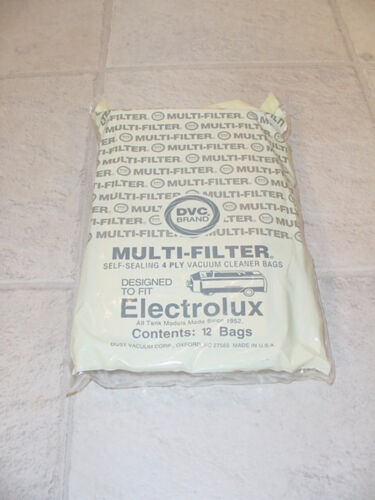 12 pack of bags designed to fit C style Electrolux Vacuum Cleaner