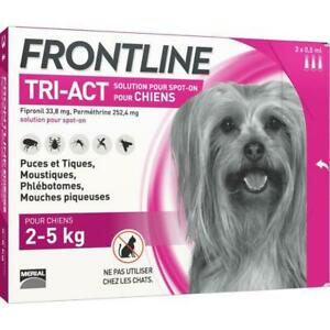 FRONTLINE TRI-ACT chien - 2-5kg - 3 pipettes