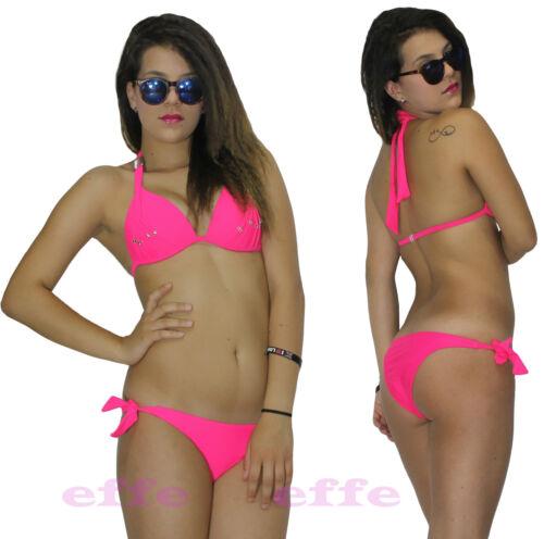 Bikini brasilianisch Hochdrücken badeanzug frau meer 2 stück gepolstert neu z036