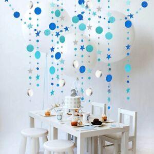 4-M-Star-Cercle-papier-Garland-Bunting-Maison-Mariage-Fete-Banniere-pendaison-decoration