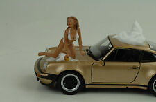 Car wash Girl Barbara Figur Figurines Figuren 1:24 Figures American Diorama