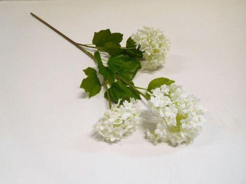 Schneeball Hortensie Seidenblume Kunstblume 72 cm weiß creme 304250-40 F62