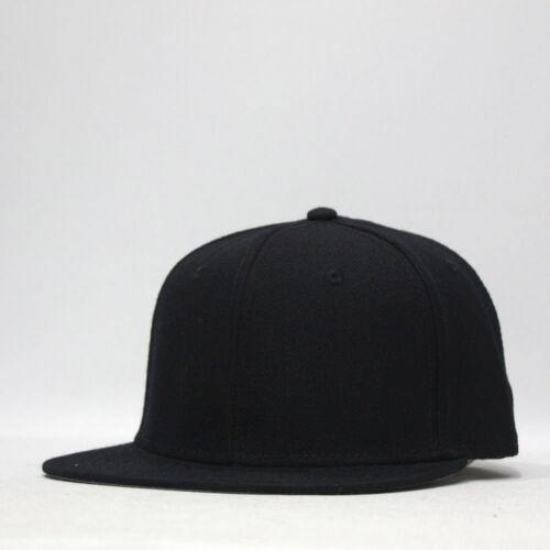 Classic Plain Wool Blend Adjustable Flat Bill Snapback Hats Baseball Caps