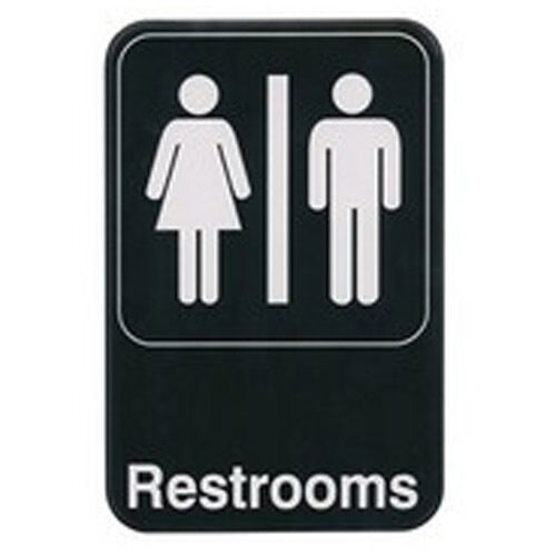 Winco SGN-603 6x9-Inch RESTROOMS Sign