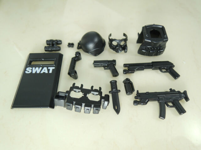 no.8-8 custom swat police helmet military gun army 8 parts weapons for LEGO