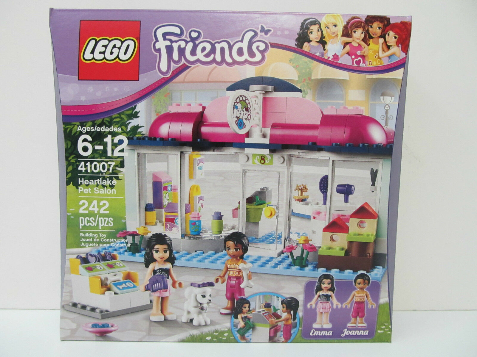 LEGO - FRIENDS HEARTAKE PET SALON - 242 piece set - Ages 6 - 12 years